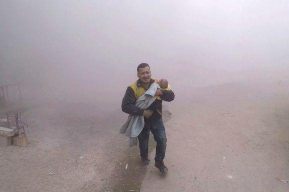 Minst 70 drept i massive bombeangrep utenfor Damaskus