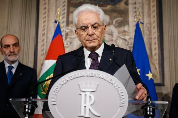 Italias president går trolig inn for midlertidig teknokratregjering og nyvalg