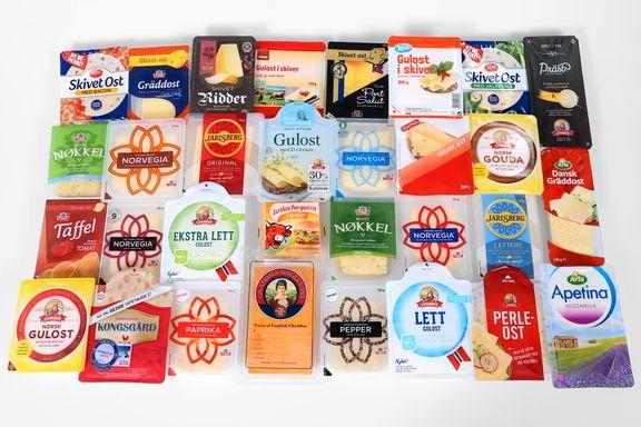 Test av skivet ost: Stor forskjell på fettinnholdet i disse