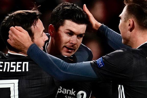 Helland sørget for Rosenborgs første poeng i Europa. Samtidig satte laget dyster rekord