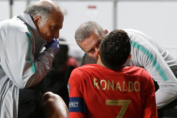 Ronaldo måtte ut med skade. Nå beroliger han fansen.