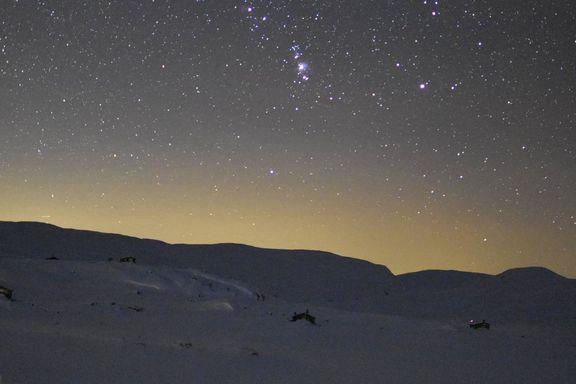 Slik så stjernehimmelen over Finse ut torsdag kveld