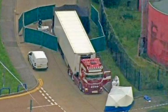 Bilen kom fra Belgia i natt. Sjåføren (25) er pågrepet og mistenkt for drap.