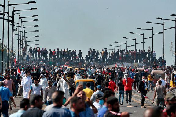 Nye protester i Bagdad etter at over 40 mistet livet i gatekamper dagen før