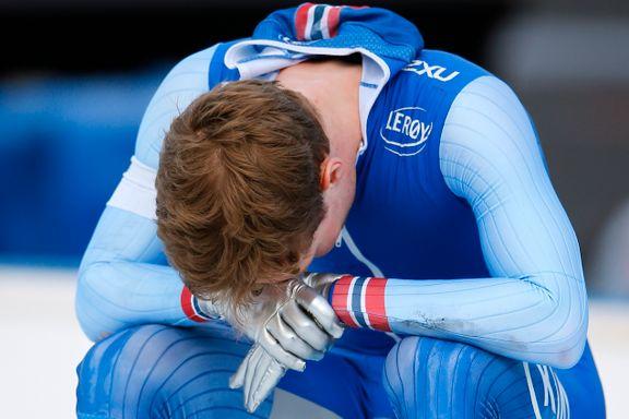 Sønderknust og blodig Sverre Lunde Pedersen falt fra VM-gullet