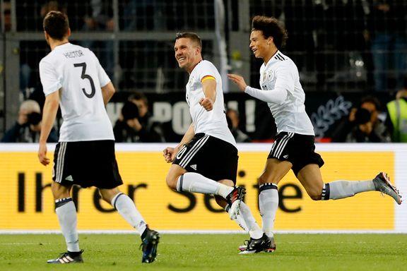 I sin siste landskamp scoret han sitt kanskje flotteste mål