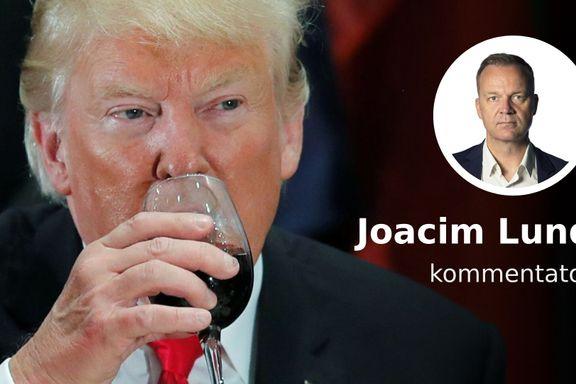 Det er mye alkohol involvert når Trump og Macron barker sammen i julebordsesongen