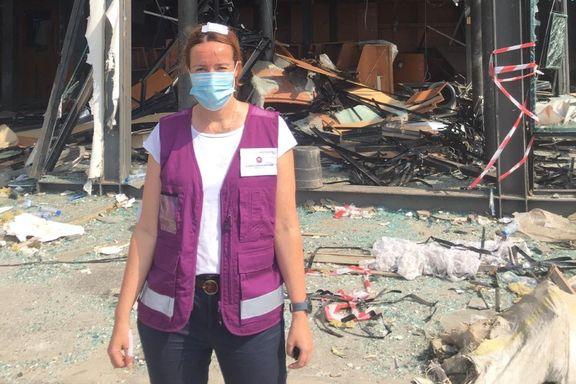 Benedikte jobber i Libanon. Hun er en av de skadede etter tirsdagens eksplosjon.
