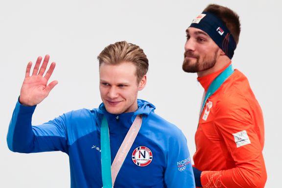 Derfor trener Norges beste skøytesprinter med sin argeste konkurrent