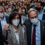 Protester i Catalonia etter at spansk høyesterett beordret presidentens avgang