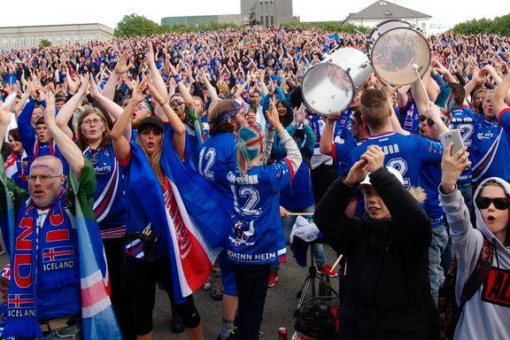 Island forbereder tidenes heltemottakelse i kveld