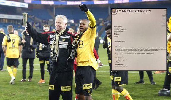 LSK-treneren fikk hilsen fra Manchester City etter cupgullet