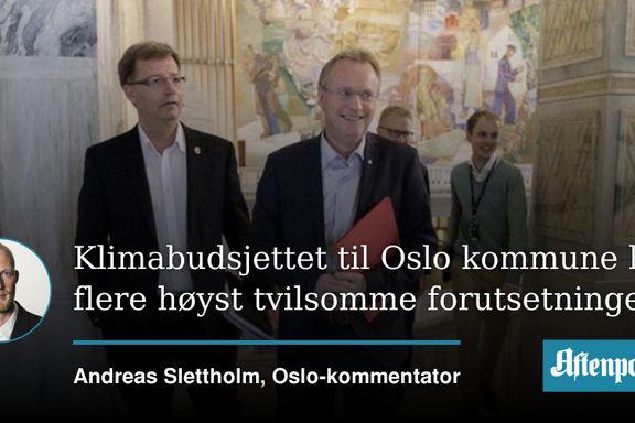 Et Oslo-budsjett uten pomp og prakt   Andreas Slettholm