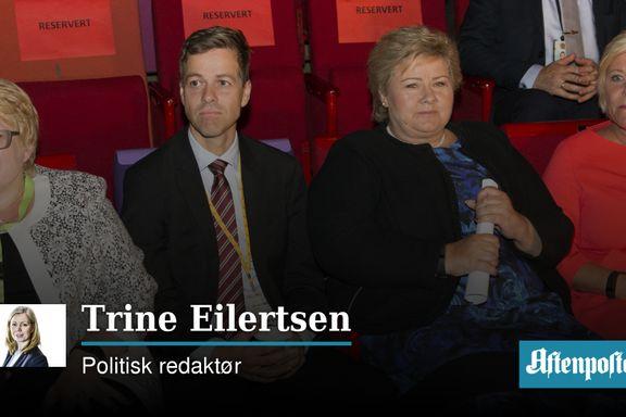 Erna Solberg er forsynt med grønt   Trine Eilertsen