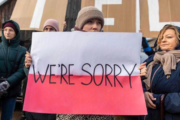 Polske kvinner i protest: «Unnskyld»