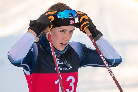 Marte Skaanes mistet skien og fikk verdenscuphelgen ødelagt: – Jeg kan ikke noe for at noen hopper på meg
