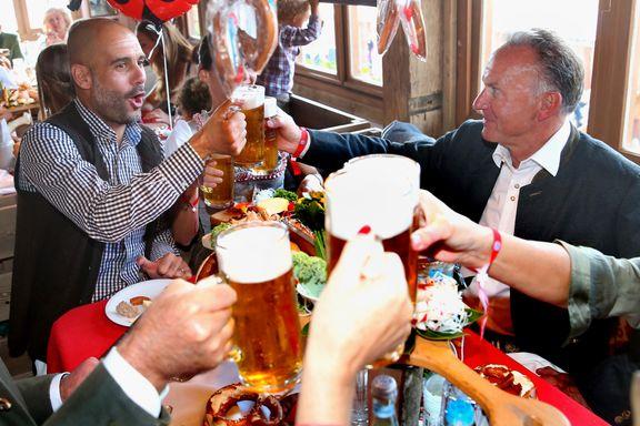 Bayern-stjernene nøt suksessen på oktoberfest: - Vi kan ikke drikke for mye
