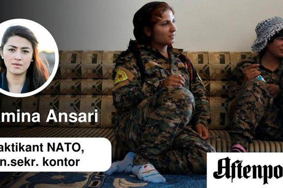 Kvinner slåss som menn i Syria