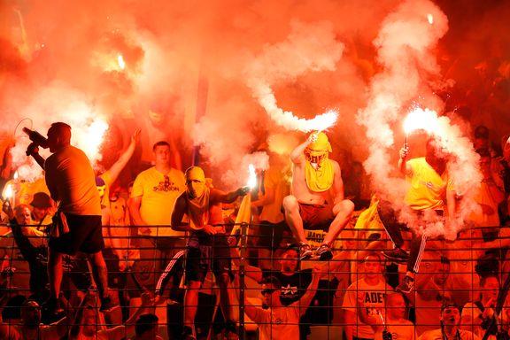 Brøndby-fansens fyrverkeri avbrøt kampen mot Hertha Berlin