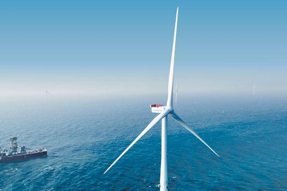 Én rotering er nok til å lade 1.317 Iphoner. Danmarks største havvindpark er åpnet.