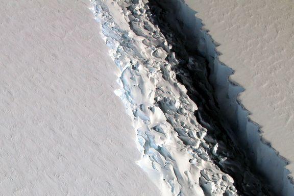 Nytt isfjell på størrelse med Akeshus fylke dannes i Antarktis