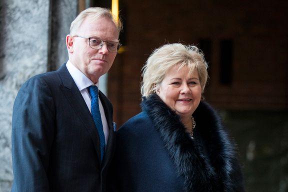 Solberg: Drøftet ikke karanteneregler med ektemannen som jobber i Norsk Industri