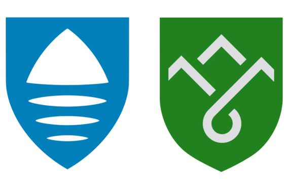 Amatørmessige logoer og uhistoriske navn på de nye fylkene
