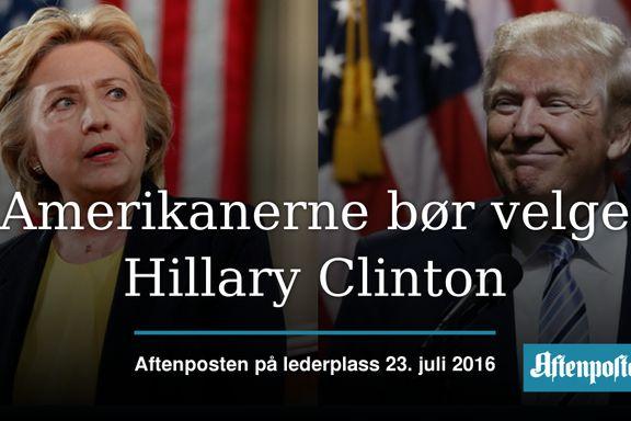 Aftenposten mener: Trump er feil presidentkandidat