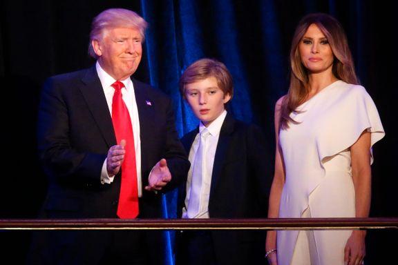Melania Trump og sønnen blir boende i New York