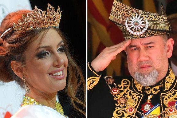 Kongen giftet seg i hemmelighet med skjønnhetsdronningen. Nå har han abdisert.