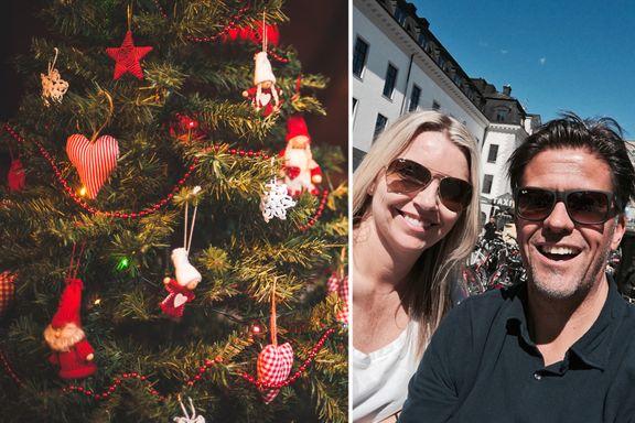 Eks-paret har barn både sammen og hver for seg. Det hindrer dem ikke i å feire jul sammen.