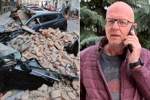 Terje Svabø i jordskjelvdrama: «Barn gråter, det er panikk»