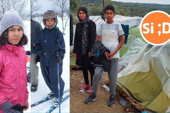 De vokste opp i Norge. Nå bor Fatema (16) og Ahmad (13) i en flyktningleir i Hellas: – Vi vil hjem!