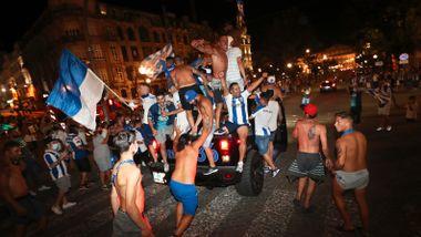Supporterne feiret i gatene da klubben sikret sitt 29. seriegull