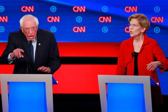 Sanders-støttespillere beskylder Warren-leiren for «drittpakke»