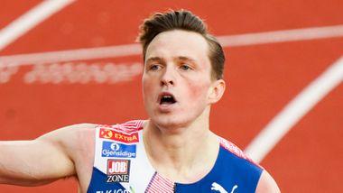 Maktdemonstrasjon av Karsten Warholm: – Mitt nest beste løp noen gang