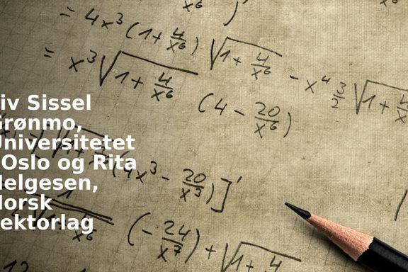 Norge trenger algebra!
