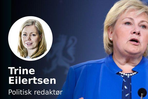 Det var befriende å se Erna Solberg lede. Omsider.