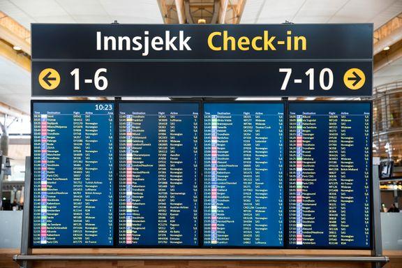 Streikefare i luftfarten: Vil gi forsinkelser og kanselleringer på Oslo Lufthavn