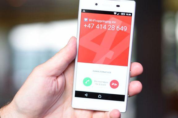 Telenors WiFi-tale kan gi dårlig talekvalitet