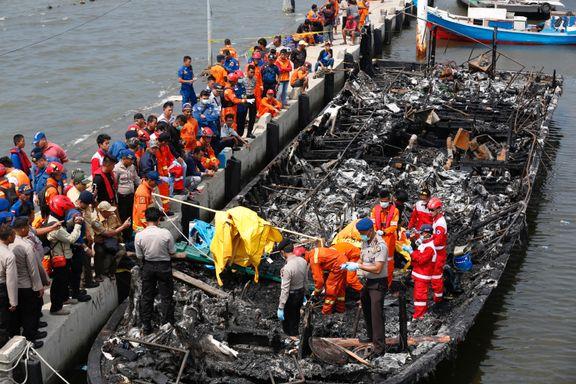 Indonesia: Båtbrann kan ha kostet 19 mennesker livet