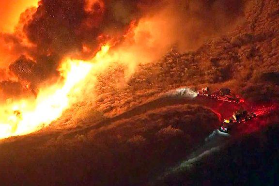 7500 evakuert grunnet ny skogbrann i California