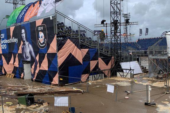 – Banen var oversvømt og det var katastrofescener ved arenaen