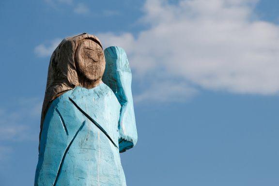 Delte meninger om ny Melania Trump-statue