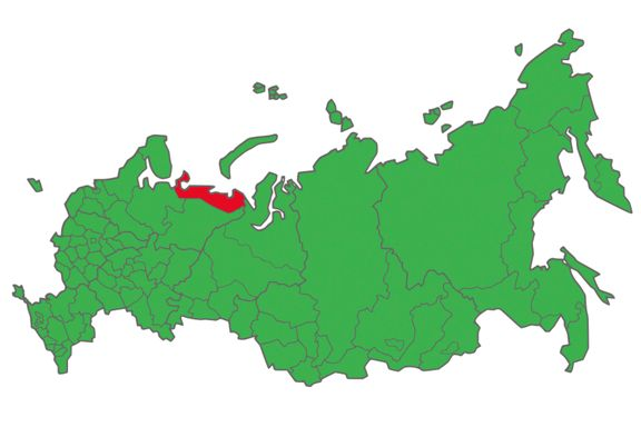 Dette kartet overrasket alle. En liten region talte Putin midt imot.