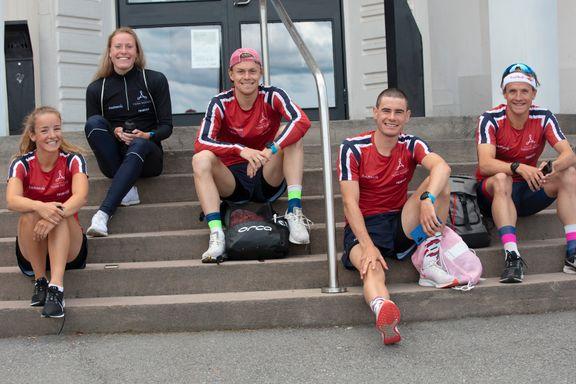 Norsk fjerdeplass i stafettdebuten i triatlon-VM