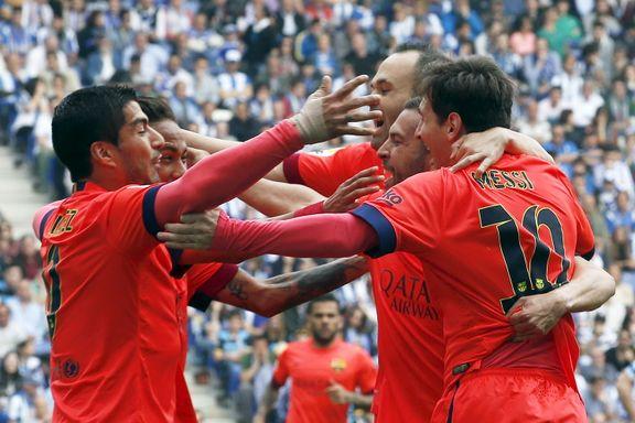 Barcelona vant lokalderby med ti mann