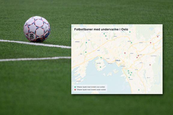 Dette kartet illustrerer klasseskillet i Oslo-fotballen. Forskjellene kalles «uakseptable».