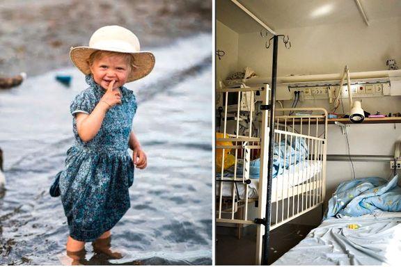 Sonja rakk ikke å bli tre år gammel. I ukevis bodde hun på et trangt, lite sykehusrom.