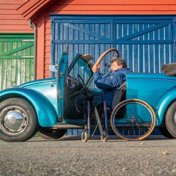 Trodde boble-drømmen brast da han ble lam. Har nå landets kuleste handicapbil.